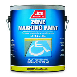 Ace  Yellow  Zone Marking Paint  1 gal.