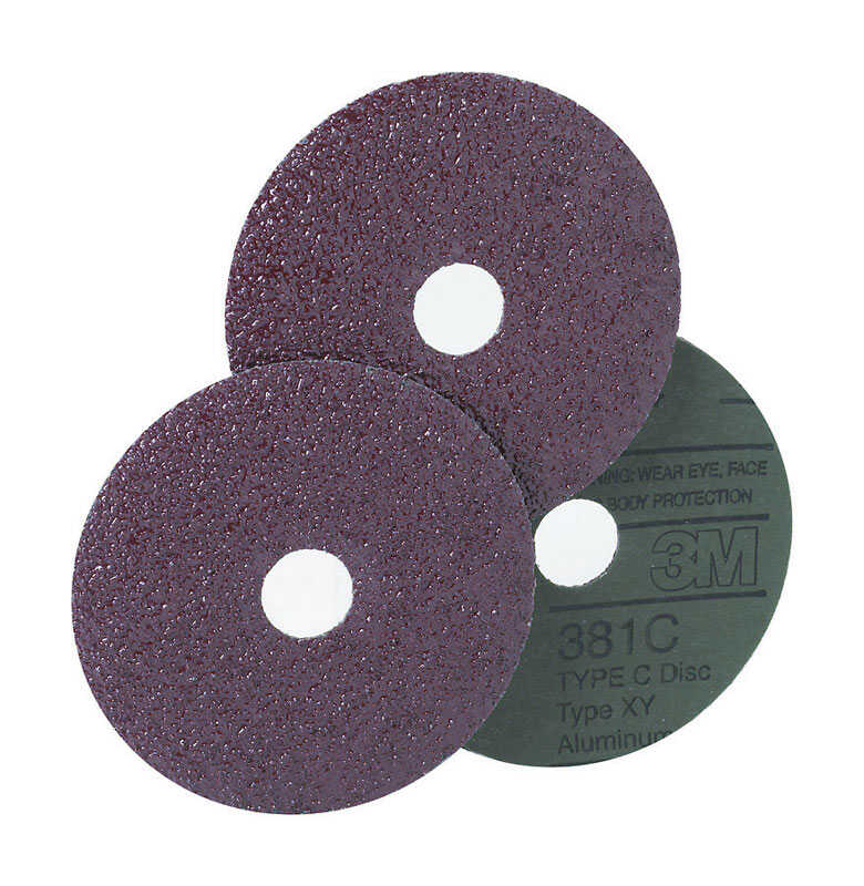 3M  Aluminum Oxide  Hook and Loop  Fiber Disc  Extra Coarse  36 Grit 1 pk 7 in.