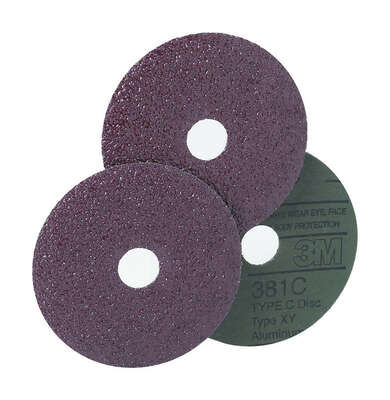 3M  7 in. Aluminum Oxide  Hook and Loop  Fiber Disc  36 Grit Extra Coarse  1 pk
