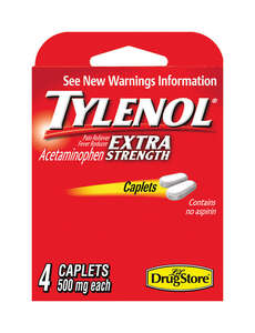 Tylenol  Lil Drugstore  Extra Strength Acetaminophen  4 count