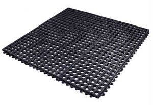 Flexgard  Black  Rubber  Nonslip Anti Fatigue Mat  36 in. L x 36 in. W