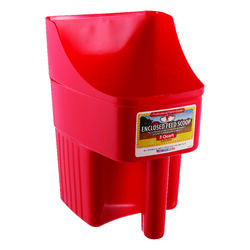 Little Giant  Plastic  Red  3 qt. Feed Scoop