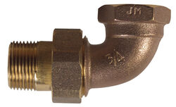 BK Products  3/4 in. Dia. x 3/4 in. Dia. Adjustable 90 deg. Brass  Elbow Nut and Tail Piece