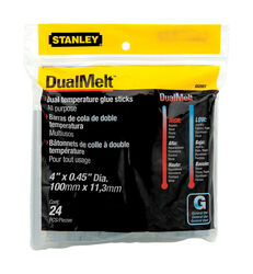 Stanley  0.5 in. Dia. x 4 in. L Glue Sticks  Clear  24 pk