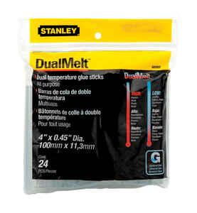 Stanley  0.5 in. Dia. x 4 in. L Hot Glue Sticks  Clear  24 pk