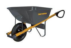 True Temper  Steel  Wheelbarrow  6 cu. ft.