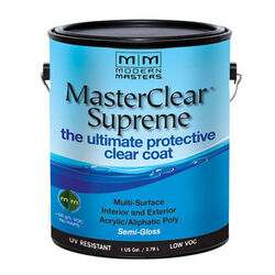 Modern Masters  MasterClear Supreme  Semi-Gloss  Clear  Water-Based  Protective Coating  1 gal.