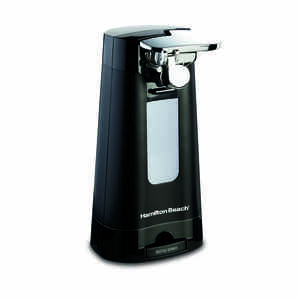 Hamilton Beach  Black  Electric Can Opener  Magnetic Lid Holder