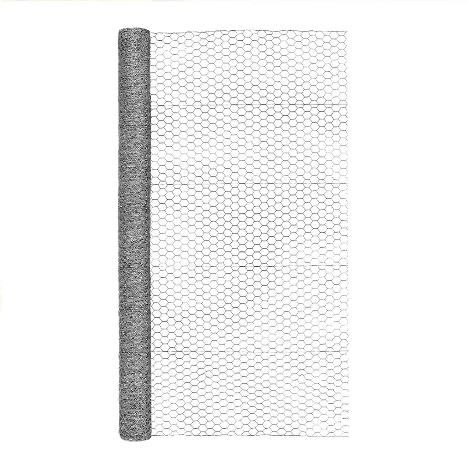 Garden Zone  60 in. H x 50 ft. L 20 Ga. Silver  Poultry Netting