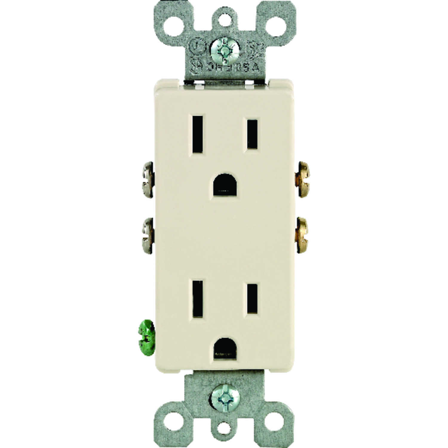 Leviton  Decora  15 amps 125 volt Light Almond  Outlet  5-15R  1 pk