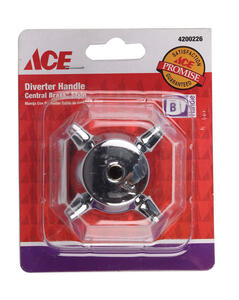 Ace  OEM  Chrome  Chrome  Diverter Handle  For Central Brass Tub and Shower