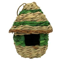 Heath  Love Shack  6 in. H x 5 in. W x 7.25 in. L Natural Fiber  Bird House