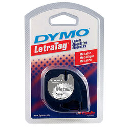 Dymo 1/2 in. W x 156 in. L Silver Lable Maker Tape