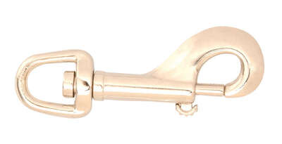 Campbell Chain  3/4 in. Dia. x 3-11/16 in. L Nickel-Plated  Zinc  Bolt Snap  70 lb.