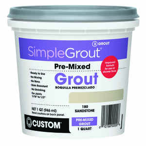 Custom Building Products  SimpleGrout  Indoor  Sandstone  Grout  1 qt.