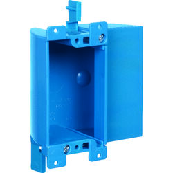 Carlon  3-5/8 in. Rectangle  PVC  1 gang Outlet Box  Blue