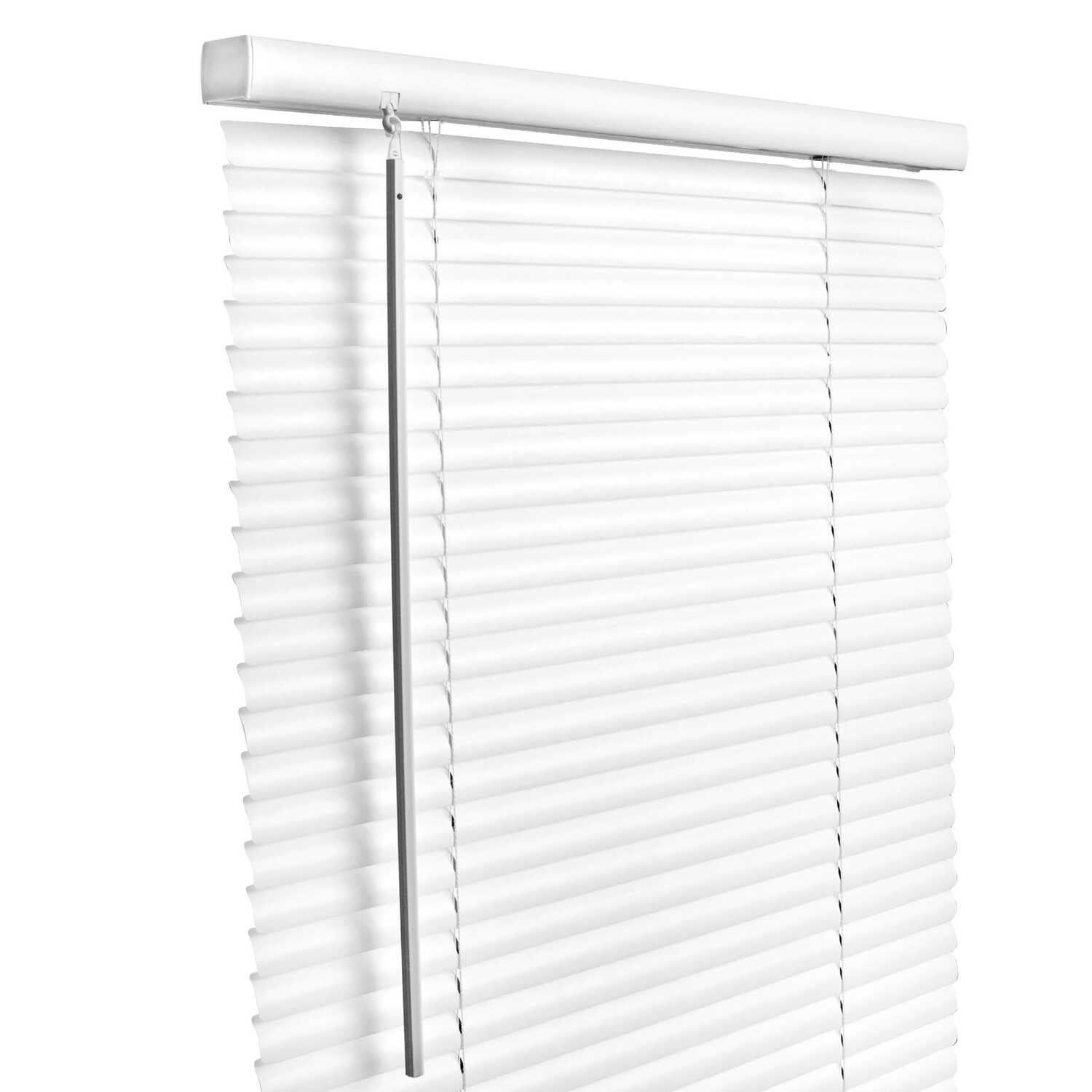 Living Accents  Vinyl  1 in. Mini-Blinds  60 in. W x 64 in. H White  Cordless