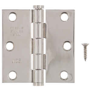 Ace  3 in. L Stainless Steel  Stainless Steel  Residential Door Hinge  1 pk