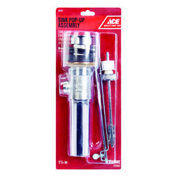 Ace  1-1/4 in. Dia. Polished  Chrome  Pop-Up Drain Assembly