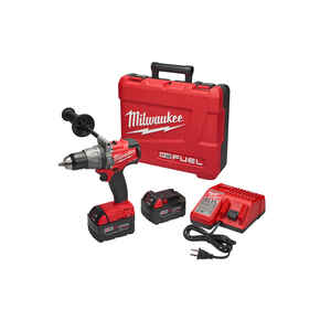 Milwaukee  M18 FUEL  18 volt 1/2 in. Brushless Cordless Hammer Drill/Driver  Kit 2000 rpm 2 speed