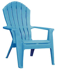 Adams  RealComfort  Blue  Polypropylene  Adirondack Chair