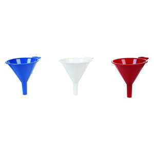 Arrow  Red  4-3/8 in. H Polypropylene  8 oz. Funnel