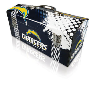 Windco  16.25 in. Steel  San Diego Chargers  Art Deco Tool Box  7.1 in. W x 7.75 in. H