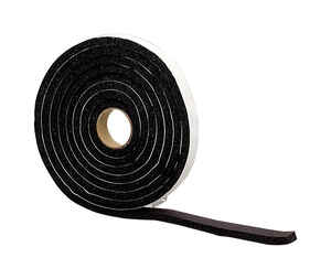 M-D Building Products  Black  Rubber  Weather Stripping Tape  10 ft. L x 3/8 in.
