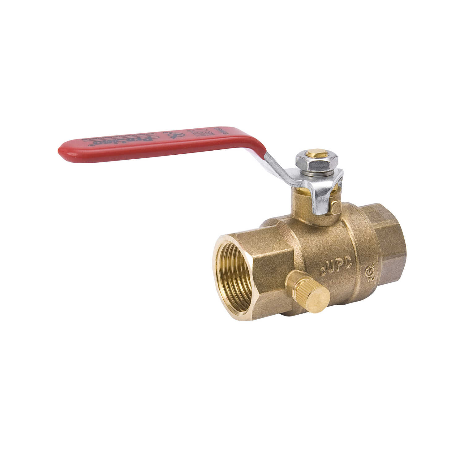 Mueller  Ball Valve  1/2 in. FPT   x 1/2 in. Dia. FPT  Brass  Side Drain