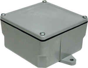 Cantex  Square  PVC  4 in. 1 Gang  Gray  Junction Box  1 gang