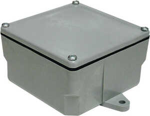 Cantex  4 in. Square  1 Gang  1 gang PVC  Gray  Junction Box