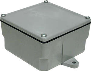 Cantex  Square  1 Gang  PVC  Junction Box  Gray  4 in.