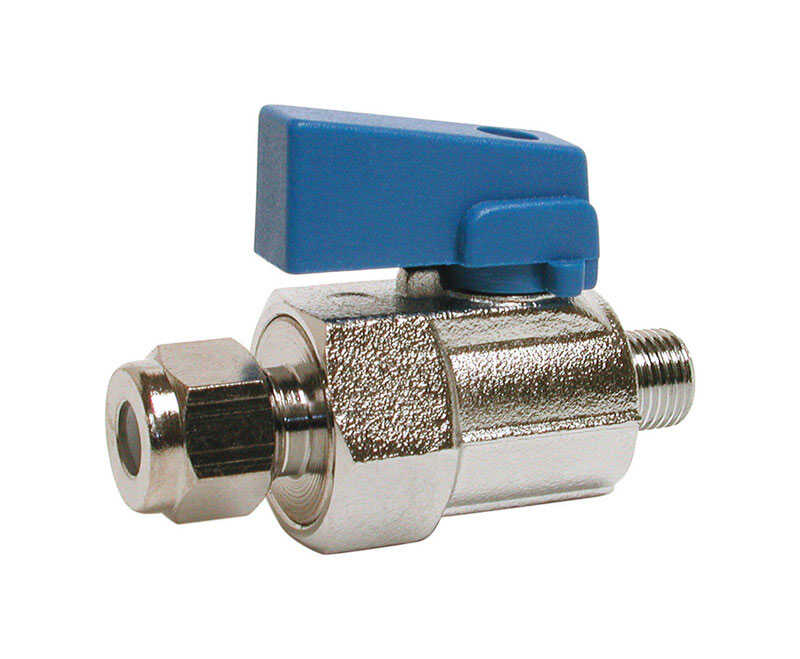 Dial  1/4 in. H x 1/8 in. W Stainless Steel  Brass  Ball Valve