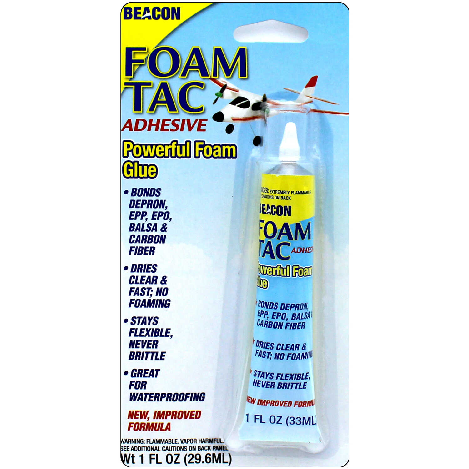 Beacon  Foam Tac  Medium to High  Foam Adhesive  1 oz.