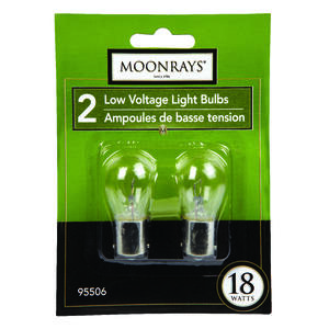 Moonray  18 watts PS25  Incandescent Bulb  200 lumens Bright White  Landscape and Low Voltage  2 pk