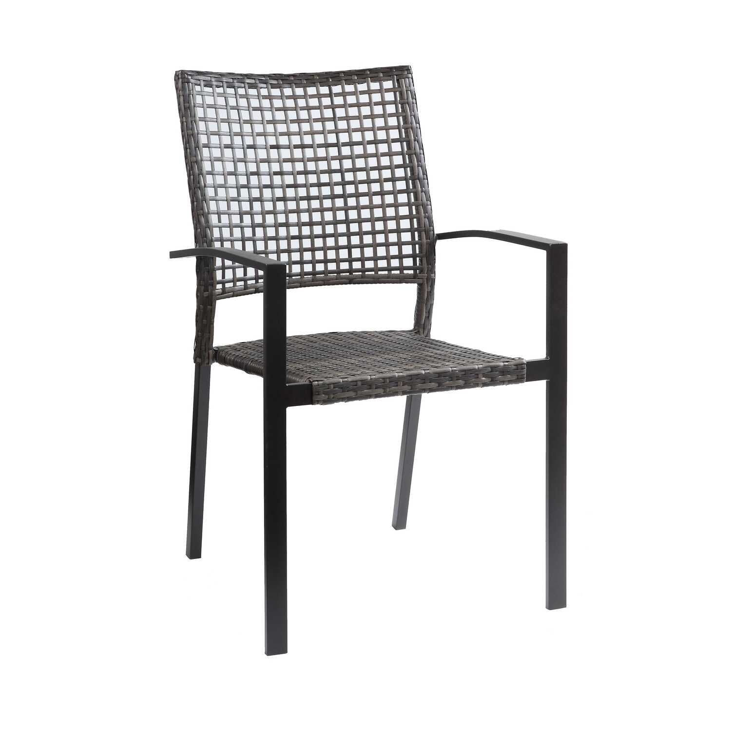 Living Accents  Wynn  Brown  Steel  Stackable Chair