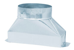 Deflect-O  5 in. Dia. x 10 in. L Galvanized Steel  Duct