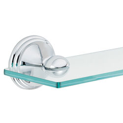 Moen  Preston  Bathroom Shelf  2.2 in. H x 4.5 in. W x 19.5 in. L Chrome  Die Cast Zinc and Glass