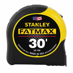 Stanley  FatMax  30 ft. L x 1.25 in. W Tape Measure  Black/Yellow  1 pk