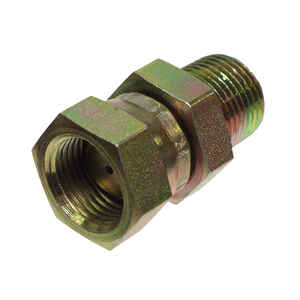 Apache  Steel  Hydraulic Adapter  1/2 in. Dia. x 1/2 in. Dia. 1 pk