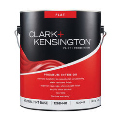 Clark+Kensington Flat Tint Base Neutral Base Premium Paint Interior 1 gal.