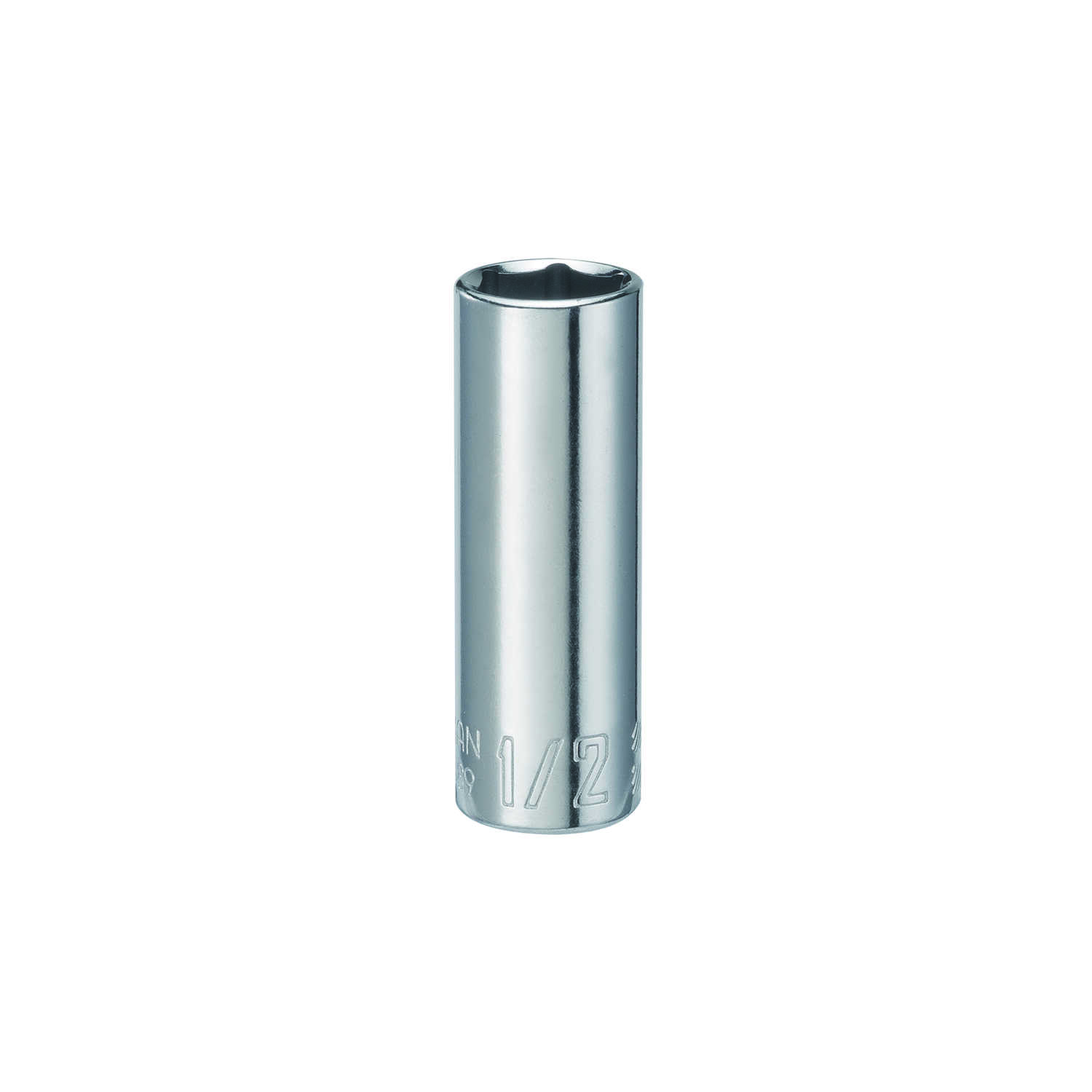 Craftsman  1/2 in.  x 1/4 in. drive  SAE  6 Point Deep  Socket  1 pc.