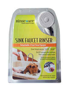 Rinse Ace  Chrome  Metal  Sink Faucet Rinser