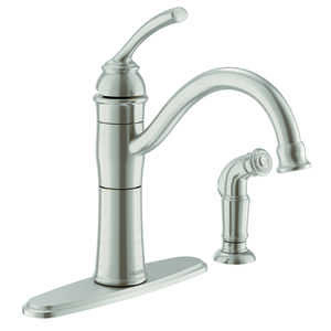 Moen  Braemore  Side Sprayer Included Kitchen Faucet  Stainless Steel  One Handle