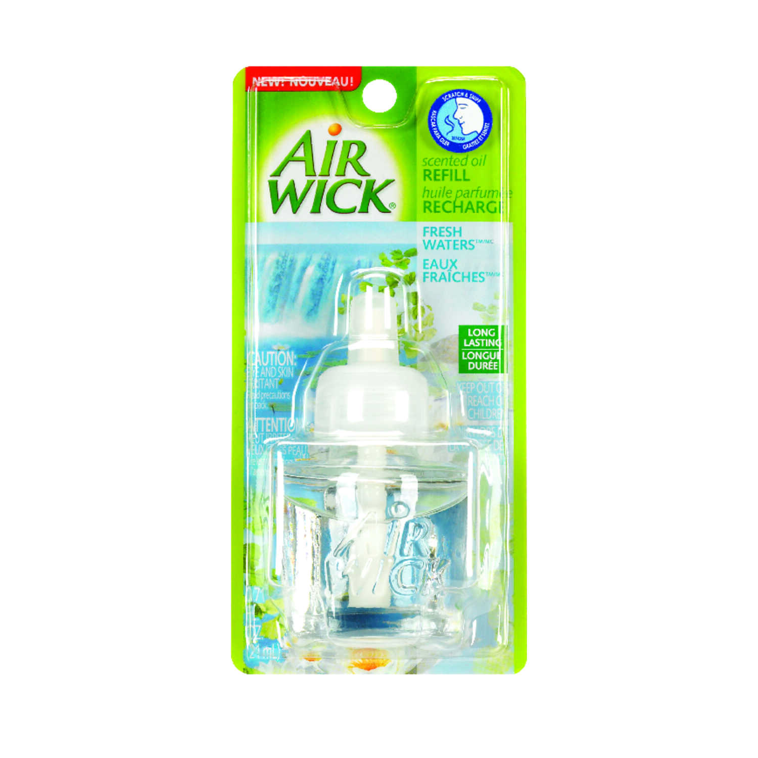 Air Wick  Fresh Waters Scent Air Freshener Refill  0.67 oz. Aerosol