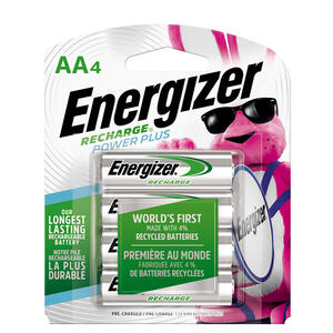 Energizer  NiMH  AA  1.2 volt Rechargeable Battery  NH15BP-4  4 pk