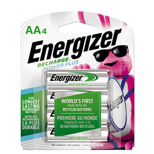 Energizer  POWER PLUS  AA  NiMH  Rechargeable Battery  NH15BP-4  4 pk