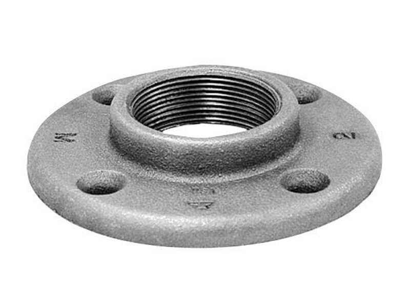 Anvil  3/8 in. FPT   Black  Malleable Iron  Floor Flange