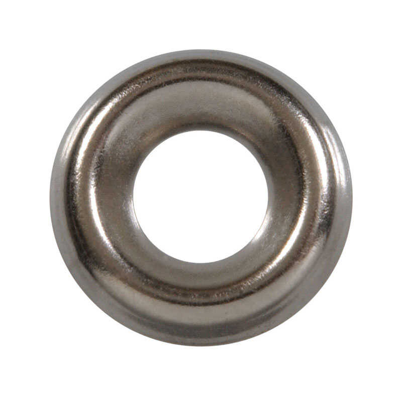 HILLMAN  Nickel-Plated  Steel  .190 in. Countersunk Finish Washer  100 pk