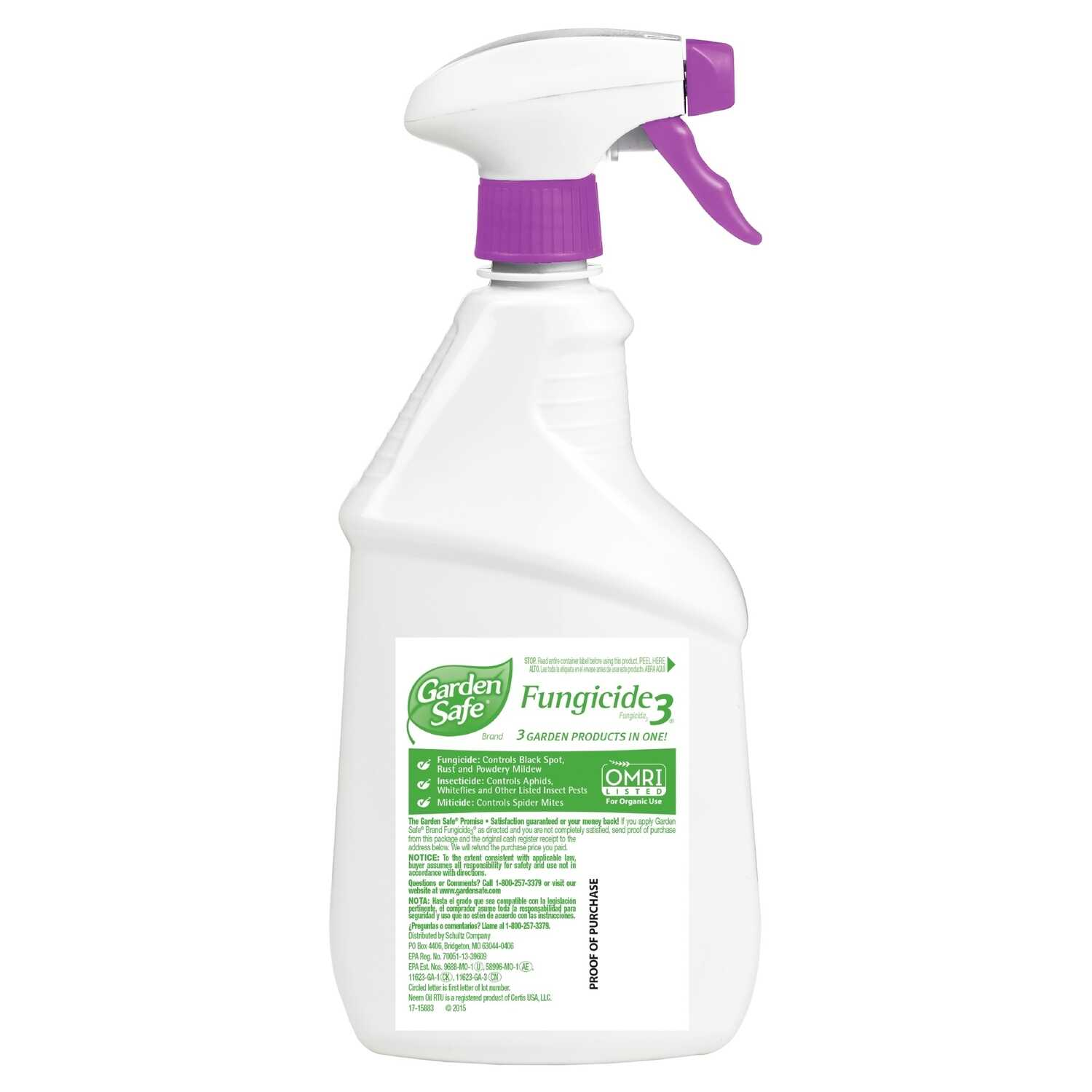 Garden Safe Fungicide 3 Organic Concentrated Liquid